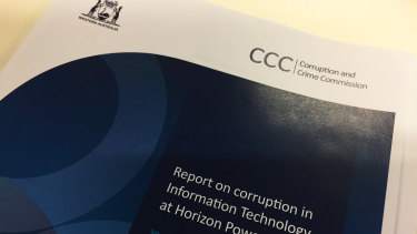 The CCC report on corruption in IT at Horizon Power was tabled in Parliament last Monday.