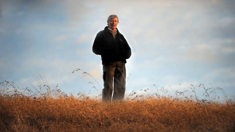 Farmer Tony Coote, pictured in 2009, who died of cancer on Wednesday.