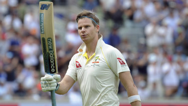 Steve Smith made back-to-back centuries in the first Ashes Test against England in Edgbaston.
