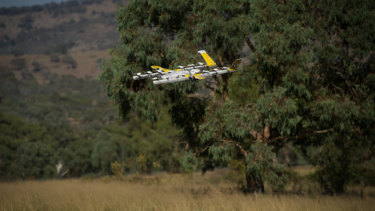 One of the so-called 'quieter' drones in action in the ACT.
