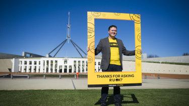 R U OK? chief executive Brendan Maher in Canberra in 2015.