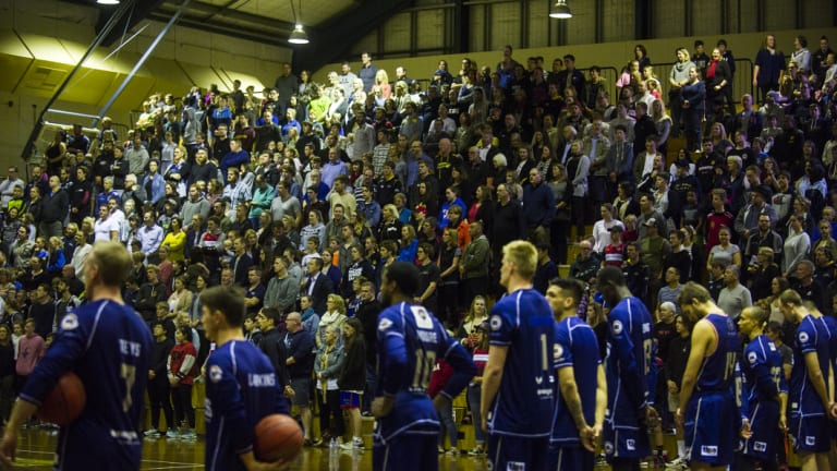 The Hawks played Adelaide in front of a sell-out crowd at Tuggeranong two months ago.