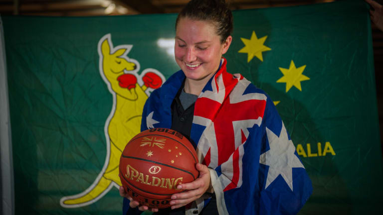 Kelsey Griffin has been named in the Opals' World Cup squad - now she just has to be passed fit.