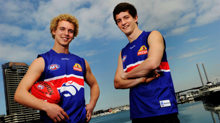 Wallis and Liberatore on their draft day in 2010.
