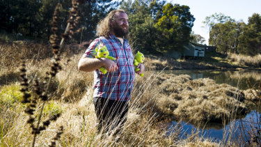 Max Gambale in his 'swamp' at the Jerrabomberra Wetlands.