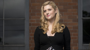 Lucy Durack is nearly seven months pregnant while she takes on the role of Fairy Crystal in pantomime Jack and the Beanstalk.