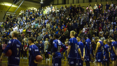The fans were out in force at Tuggeranong Basketball Stadium.