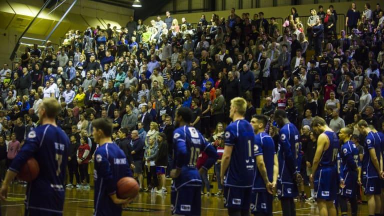 The crowd at Tuggeranong Basketball Stadium.