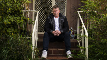 Glenn Tibbitts, who slept on the streets when he was younger, is one of the faces of ACTCOSS' Anti-Poverty week campaign.