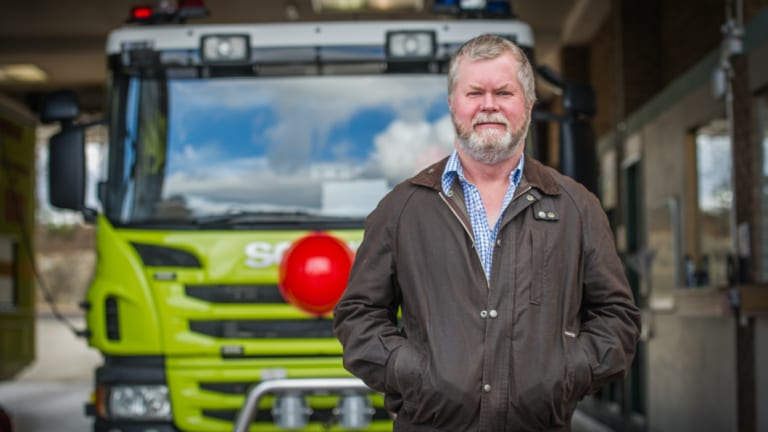 """Retired station officer Graeme Gallagher, who says PFAS was """"sprayed everywhere"""" at the back of the Fyshwick fire station."""