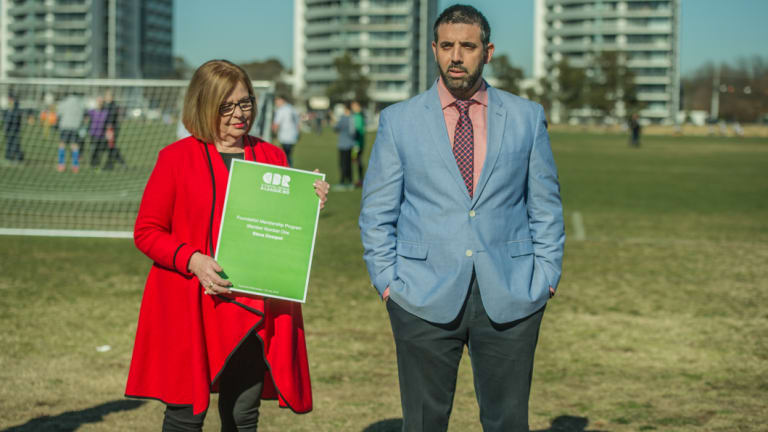 The Canberra bid has already signed 5000 members.