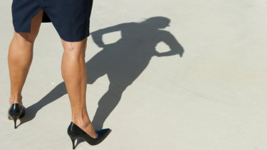 Tan pantyhose have been rejected by younger corporate women.