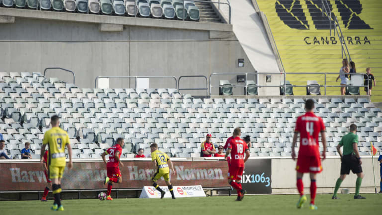 The Central Coast Mariners played at Canberra Stadium two years ago.