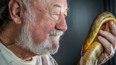 Ric Longmore was 12 when he caught his first snake.