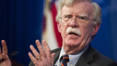 US national security advisor John Bolton.