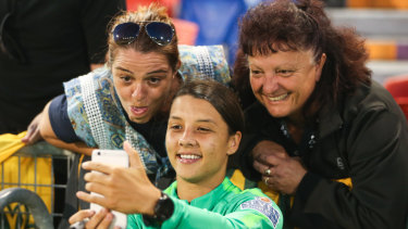 Fan favourite: Sam Kerr is set to shine against Chile.