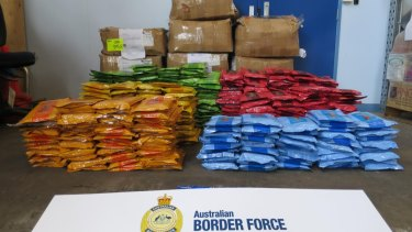Just a portion of some of the tobacco seized by ABF investigators.