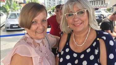 Now part of the Whiskey Au Go Go family is survivor Karin Carter with friend Julie Pierce.
