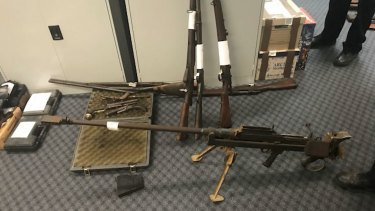 An anti-tank rifle seized by police as part of Operation Quebec Camouflage.