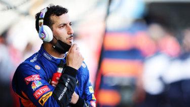Pensive: Australian driver Daniel Ricciardo.