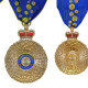 Medals received by new appointees to the Order of Australia (from left): Companion of the Order, Officer of the Order, Member of the Order, Medal of the Order.