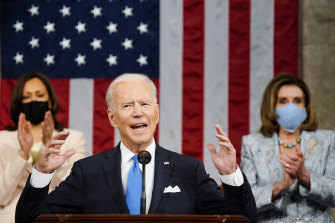 """""""Boring"""", says Cruz: US President Joe Biden addresses a joint session of Congress to declare that America is back."""