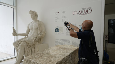 A statue of Emperor Claudius.