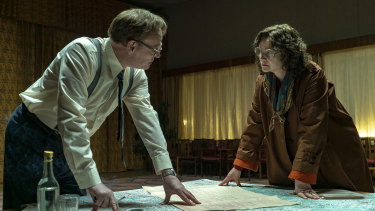 Jared Harris and Emily Watson in Chernobyl.