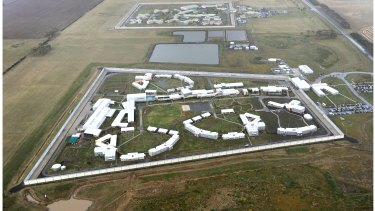Marngoneet Correctional Centre [foreground] with Barwon Prison [background] near Geelong.