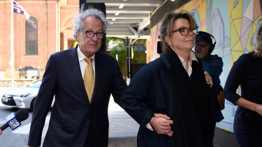 Rush leaves court after the decision was reserved.
