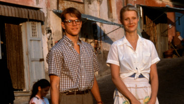 Matt Damon playing Tom Ripley alongside Gwyneth Paltrow in the 1999 film The Talented Mr Ripley.