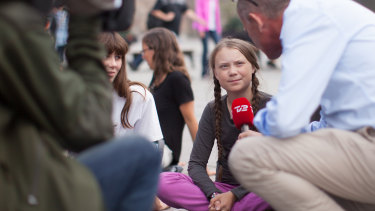 Greta Thunberg, the 15-year-old Swedish student whose 'school strike' has drawn international attention.