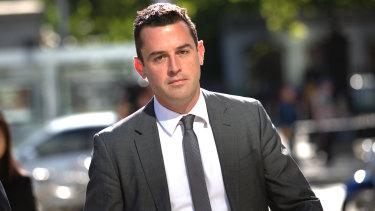 David De Garis outside court on Monday.