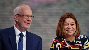 No more smiles between Justin Milne and Michelle Guthrie