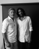 Archibald Prize finalist Angus McDonald with refugee Behrouz Boochani. They spent five days together in New Zeland this year.