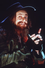 Barry Humphries  as Fagin in Oliver in London's West End.