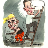 BHP chief executive Andrew Mackenzie and his chief financial officer Peter Beaven