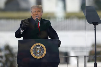 President Donald Trump told the Stop the Steal rally Pence was supposed to intervene.