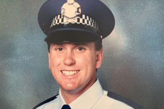 Dan Purdie the day he was sworn into the Queensland Police Service.