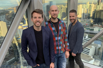 Ynomia founding team: L-R Adam Jago, Matt Lickwar and Matt Barbuto.
