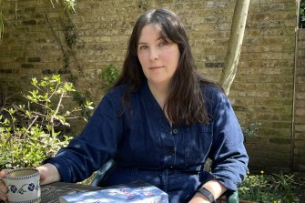 Evie Wyld, in her garden in London, says the MeToo movement helped her bring the disparate female voices in her novel together, to work out they were part of the same story,