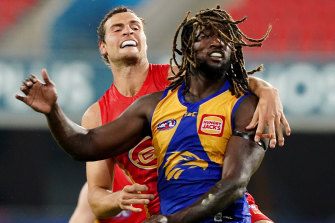 Nic Naitanui, right, is one of four players who will feature in the series.