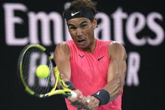 Rafael Nadal won at Flushing Meadows last year.