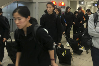The Chinese soccer team has finally arrived in Sydney.