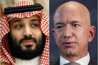 The new super-wealthy, such as Amazon CEO Jeff Bezos (right), eclipse even oil sheikhs such as Saudi Crown Prince Mohammed bin Salman (left).