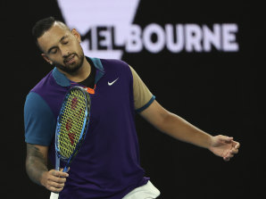 Nick Kyrgios produced a bit of everything in his five-set loss to Dominic Thiem.