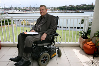 Mark, a quadriplegic, at his Pyrmont home, Sydney, 2007.