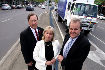 Left to right: councillors Geoff Ablett, Amanda Stapledon and Gary Rowe.
