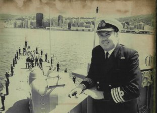 HMAS Hobart captain Sam Bateman,  October 25, 1985.