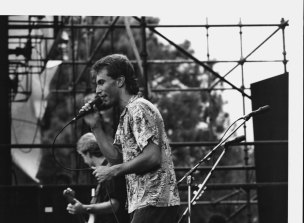 Reyne out front performing with Australian Crawl in 1985.